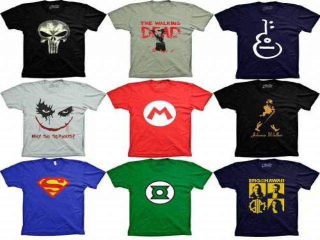 92552f7877 Camisetas personalizadas com arte até 3 cores